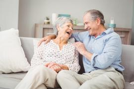 Older couple relaxing at home